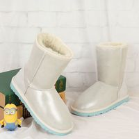 High Quality Snow Boots 100 Australian Natural Sheepskin Boots Fashion Leisure Shoes Boots Warm Free Shipping