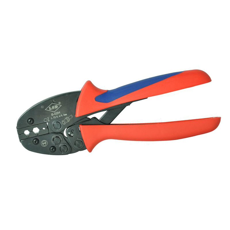 S-02H High Quality Hand Crimping Tools for crimping coaxical cable connectors, Fiber optic, Belden 8279 Ratchet Plier