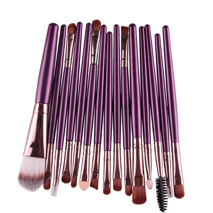 Fine 15 Pcs/sets Eye Shadow Foundation Eyebrow Lip Brush Makeup Brushes Tool Makeup Brushes Tool Pinceis De Maquiagem 40* Skilful Manufacture Eye Shadow Applicator Makeup Tools & Accessories