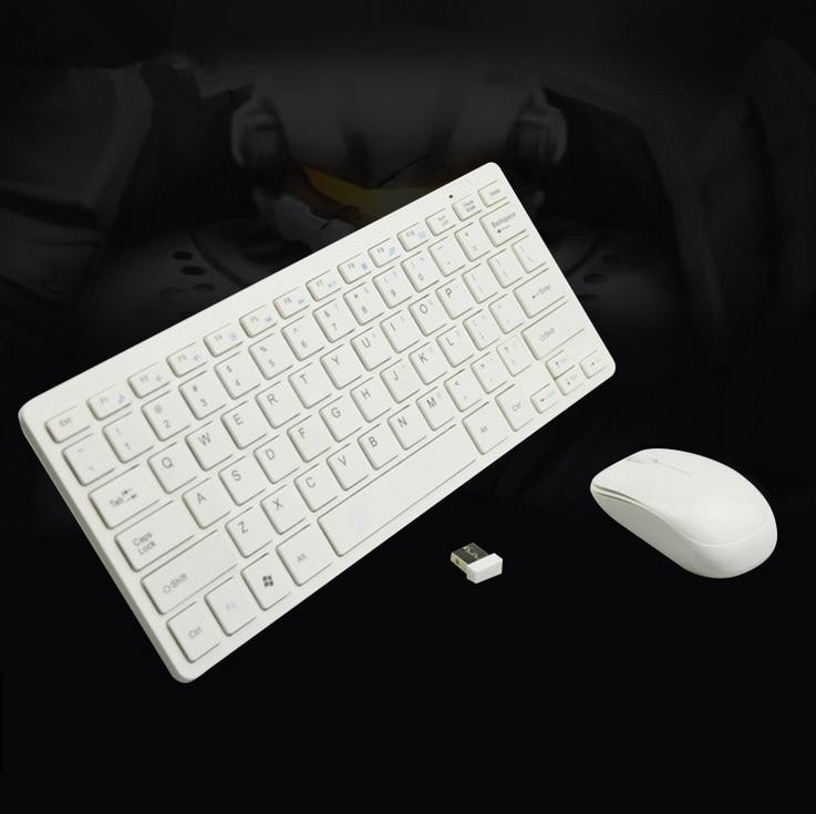 white black 2 4ghz wireless keyboard. Black Bedroom Furniture Sets. Home Design Ideas