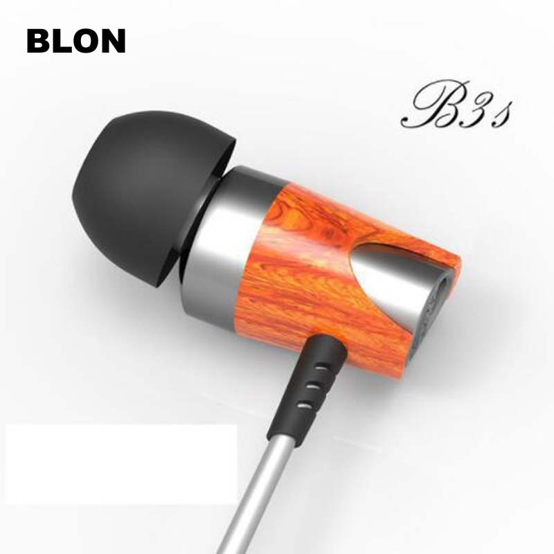 BOSSHIFI B3s Dynamic and Armature 2 unit Wood Earbuds HIFI Red Wooden Moving Iron&Coil In Ear Earphone B3S Wooden Headset