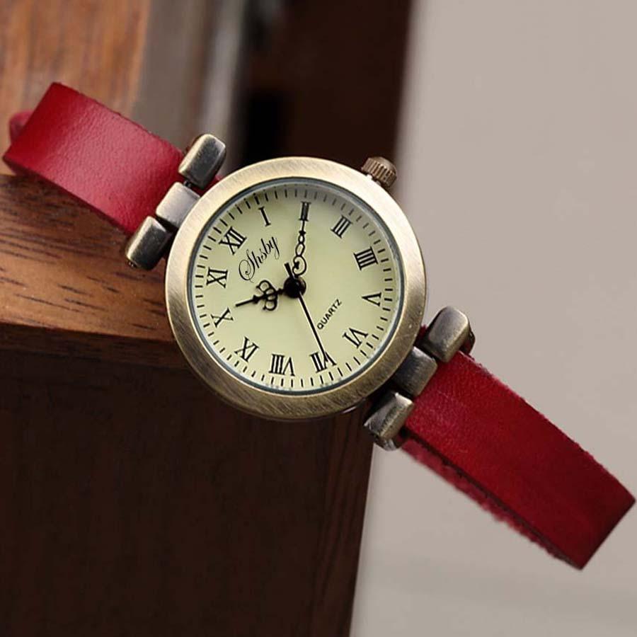 Shsby New fashion laris kulit perempuan menonton ROMA vintage yang - Jam tangan wanita - Foto 2