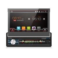 1 Din Android автомобильный мультимедийный Авто Радио DVD плеер gps навигация с 7 сенсорный экран Съемная панель Поддержка Wi Fi Зеркало Ссылка