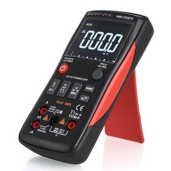 Cyfrowy Multimetr ZT-X 9999 Zlicza Analogowy Wykres Słupkowy Napięcie Prądu Pojemność Temperatura Aotu Zakres Mały Tester Wielofunkcyjny RM409B
