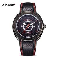 SINOBI Элитный бренд Часы часы Для мужчин кожи спортивные часы сюда человек удивительные кварцевые Часы часов