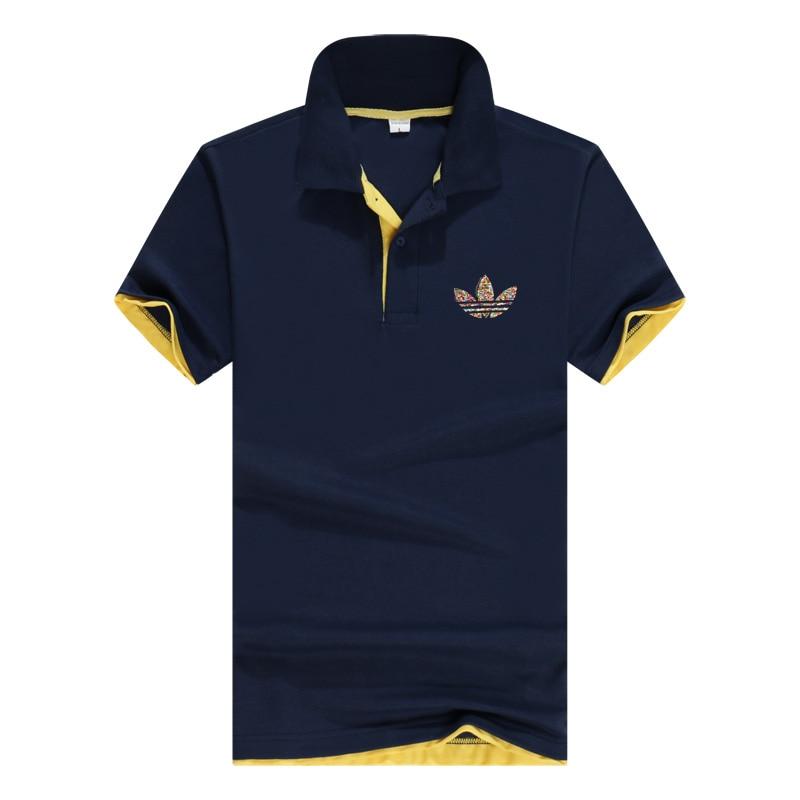 Men's Summer   Polo   Shirt 2019 Brand Men's Fashion Cotton Short Sleeve   Polo   Shirt Men's Solid Color Jersey Knit Top