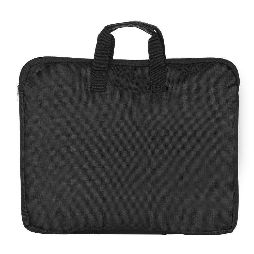 File-Folder Handle Canvas Zipper Double-Layers Waterproof Big Bag With Capacity