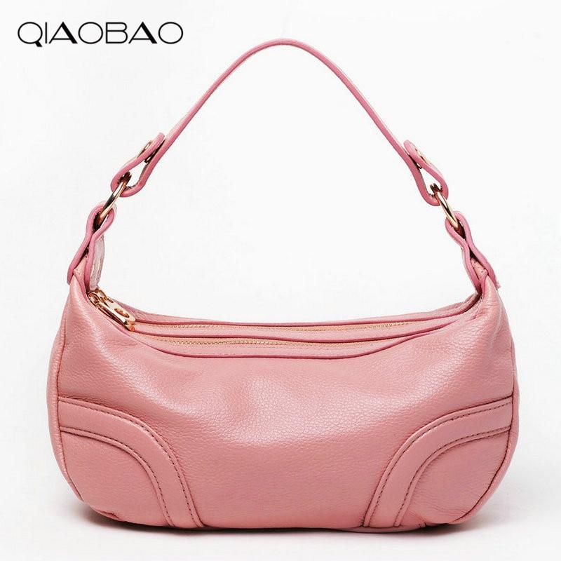 QIAOBAO New Fashion 100% Soft Real Genuine Leather Bag Women's Handbag Ladies Shoulder Tote Messenger Bag Purse Satchel fashion women handbag shoulder bag leather messenger bag satchel tote purse l228