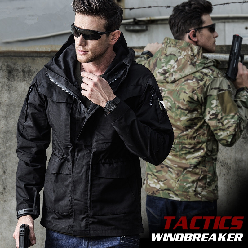 Winter Outdoor Training Waterproof Warm M65 US Tactical Windbreaker Coat Autumn Flight Pilot Hooded Thermal Military Jacket Tops winter outdoor tactical military training windbreaker hooded coat outwear men s hiking climbing cotton warm waterproof jacket
