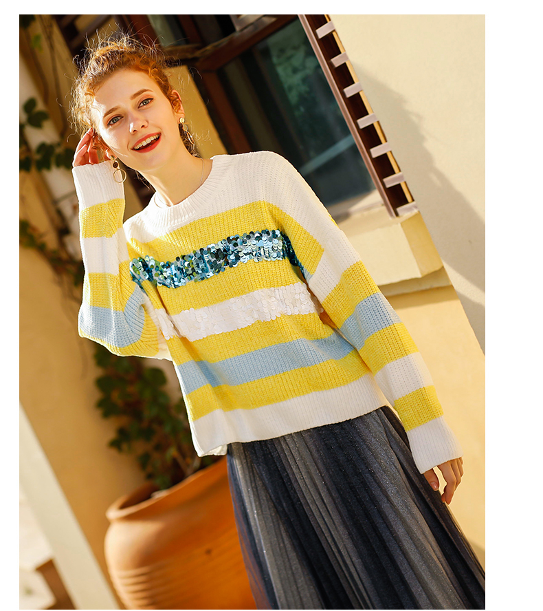 Women 39 s Sweater Fashion Loose Tops Pullover Kintted Autumn And Winter Popular in Pullovers from Women 39 s Clothing