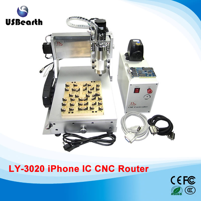 LY 3020 IC CNC router / polishing / milling machine for mobilephone main board repair free tax to EU cnc 5axis a aixs rotary axis t chuck type for cnc router cnc milling machine best quality