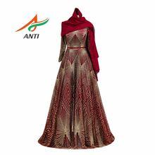 Женское вечернее платье с блестками элегантное мусульманское