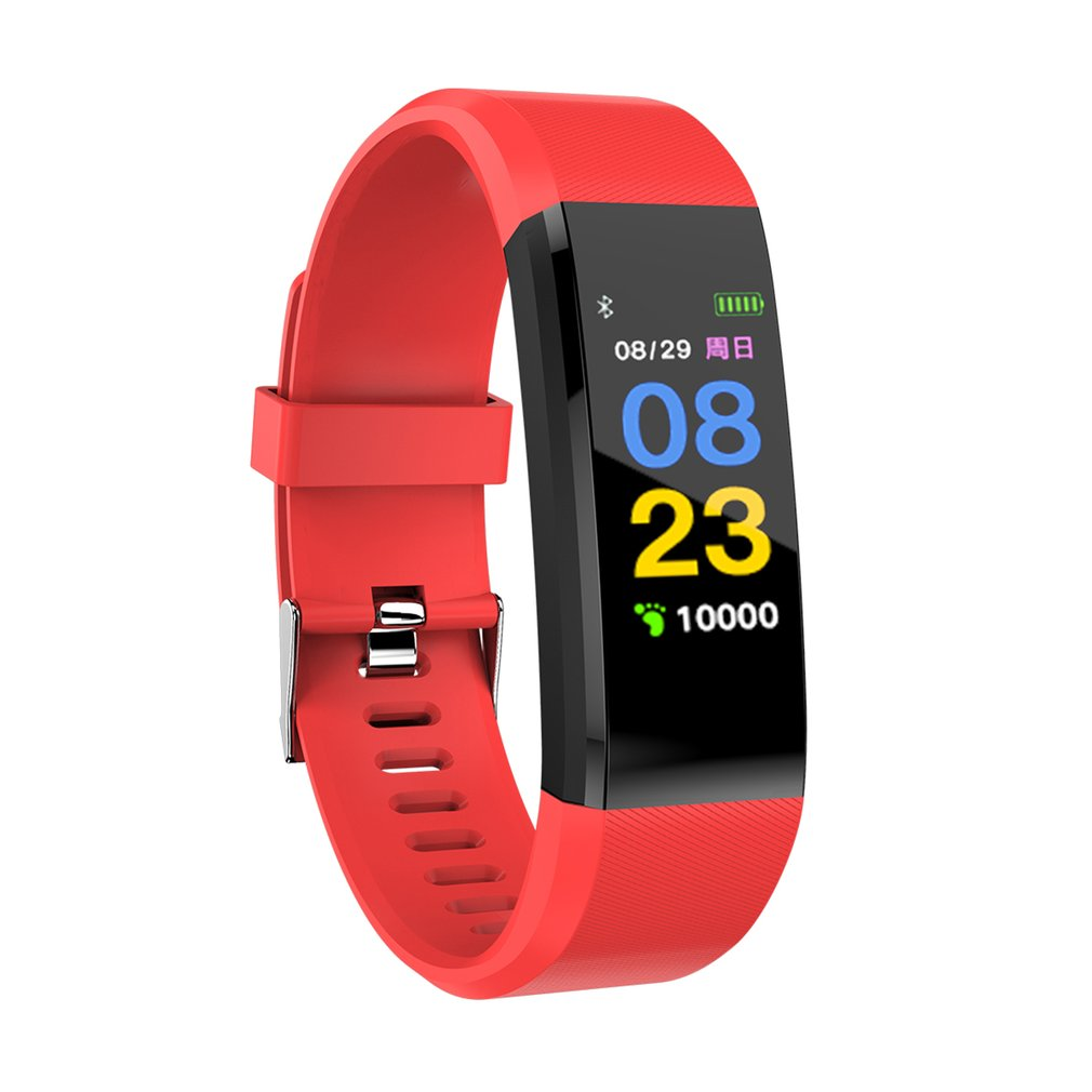 115PLUS Smartwatch Waterproof Sports Pedometer Heart Rate Monitor Bluetooth Smart Band Bracelet For Android For IOS