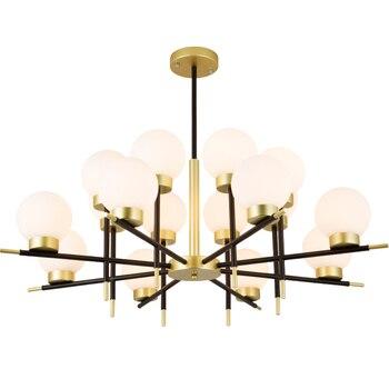 נורדי Creative Led אורות תליון מודרני סלון חדר שינה יוקרה תליית מנורת חלב לבן זכוכית כדור אהיל תליון מנורה