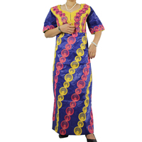 Free Shipping Africa Riche Bazin Dress For Women African Traditional Embroidered Clothing 100 Bazin Cotton