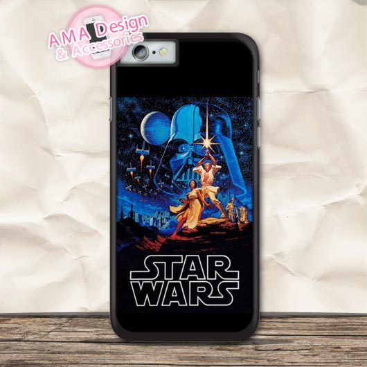 Star Wars Vintage Retro Film Poster Protective Case For iPhone X 8 7 6 6s Plus 5 5s SE 5c 4 4s For iPod Touch