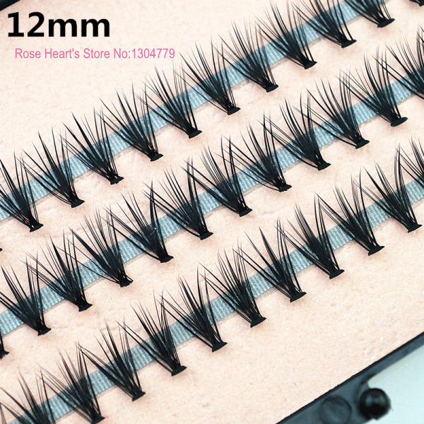 4pcs/lot 57 knots 20 hairs/kont Black Individual False Eyelashes Tray Eye Lash Extension Kit 14mm 12mm 10mm 8mm Makeup Tools
