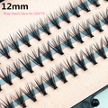 4pcs/lot 57 knots 20 hairs/kont Black Individual False Eyelashes Tray Eye Lash Extension Kit 14mm 12mm 10mm 8mm Makeup Tools