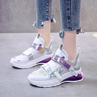 Harajuku Off Women Casual Dad Sneakers White Shoes Female Autumn Summer Students Walking Hook Loop Shoes Zapatos Tenis Feminino