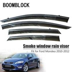 BOOMBLOCK 4 Uds cubiertas de coche visera sol lluvia viento Deflector toldo escudo ABS para Ford Mondeo MK4 4 2010 2011 2012