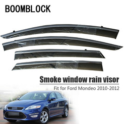 BOOMBLOCK 4 cái Bao Gồm Xe Bao Gồm Cửa Sổ Visor Mặt Trời Mưa Gió Làm Lệch Hướng Mái Hiên Lá Chắn ABS Cho Ford Mondeo MK4 4 2010 2011 2012