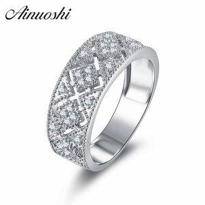 Винтажный стиль, Открытое кольцо с крестом, свадебное кольцо в стиле арт-деко, ювелирное изделие, чистое серебро 925 пробы, Женское кольцо в ст...