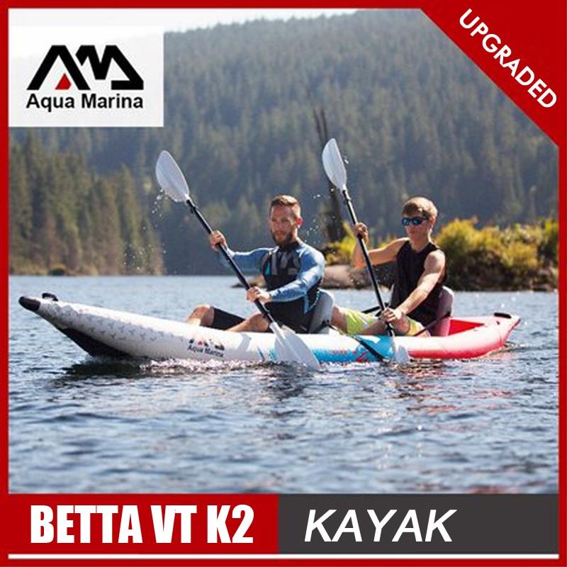 Aqua Marina uppblåsbara båt sport kajak kanot pvc jakt raft pump sits droppstygn laminerad professionell sport A08004