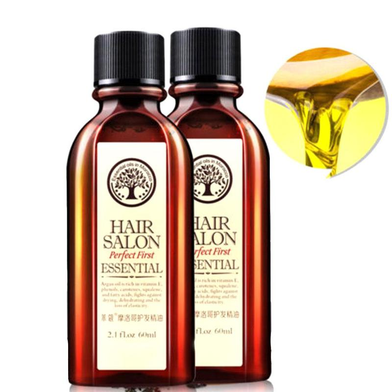 60ml Morocco Hair Care Essential Oil Argan Nut Oil Nourish Scalp Repair Dry Damage Hair Treatment Glycerol Hairdressing