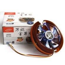 Немой Золотой Теплоотводы Вентилятор охлаждения ПК Rediator Для intel LGA775/LGA1155/LGA1156/LGA1150 Для AMD 754/AM2/AM2 +/AM3