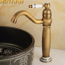 Ванная комната античная бассейна кран старинные кухонной раковиной кран латунный кран torneira banheiro смеситель воды кран бронзовый YT-5093