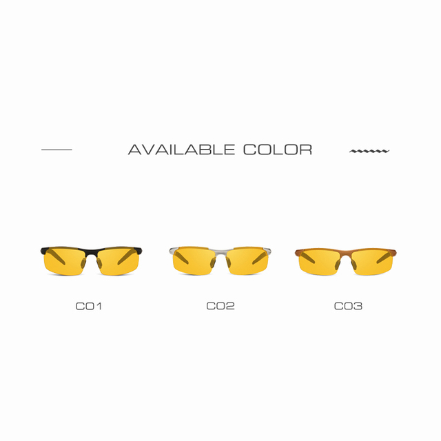 AOFLY Brand Design Anti-Glare Goggles Eyeglasses Polarized Sunglasses Yellow Lens Night Vision Driving Glasses Men Women AF8054 4
