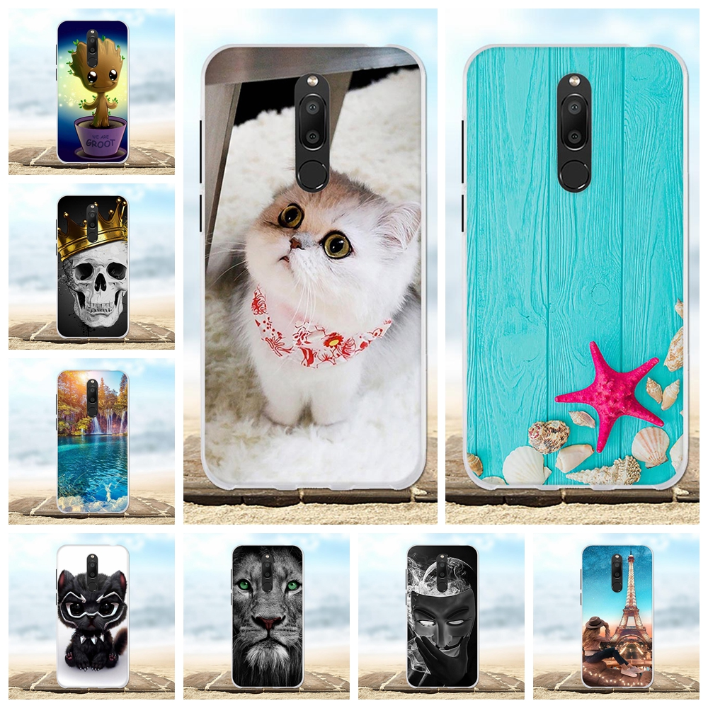 For Meizu M6T Case Ultra-slim Soft TPU Silicone Meiblue 6T Cover Cat Patterned Meilan Coque Funda