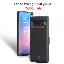 Extended Phone Battery Power Case For Samsung Galaxy S10 Portable Charger 7000mAh Extenal Bank Charging