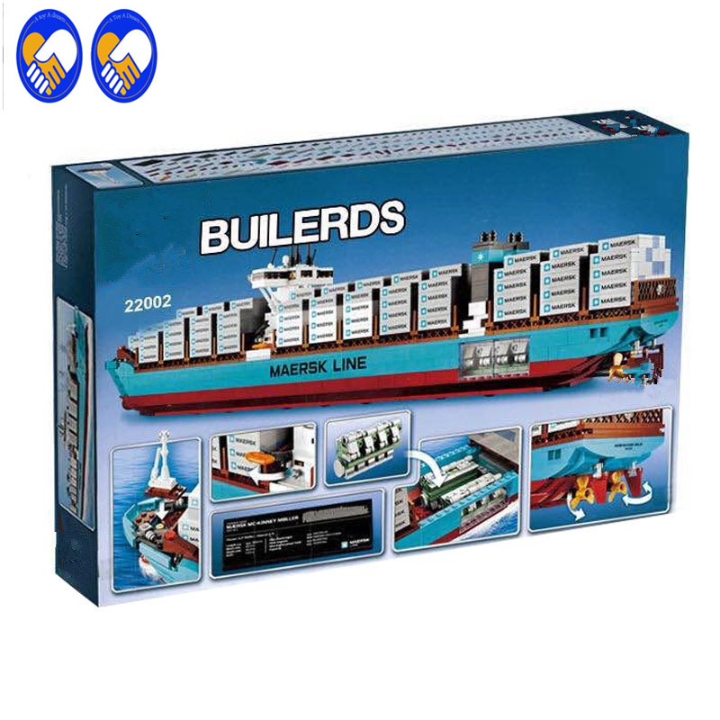 A Toy A Dream Lepin 22002 1518Pcs Technic Series The Maersk Cargo Container Ship Set Educational Building Blocks Toys Gift 10241 a toy a dream lepin 02043 stucke city series airport terminal modell bausteine set ziegel spielzeug fur kinder geschenk junge
