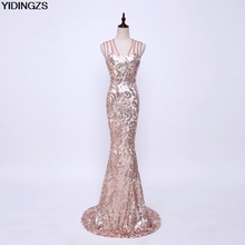 YIDINGZS Robe De Soiree Slim Mermaid Sequined Long Evening Dresses Fashion Prom Party Dresses