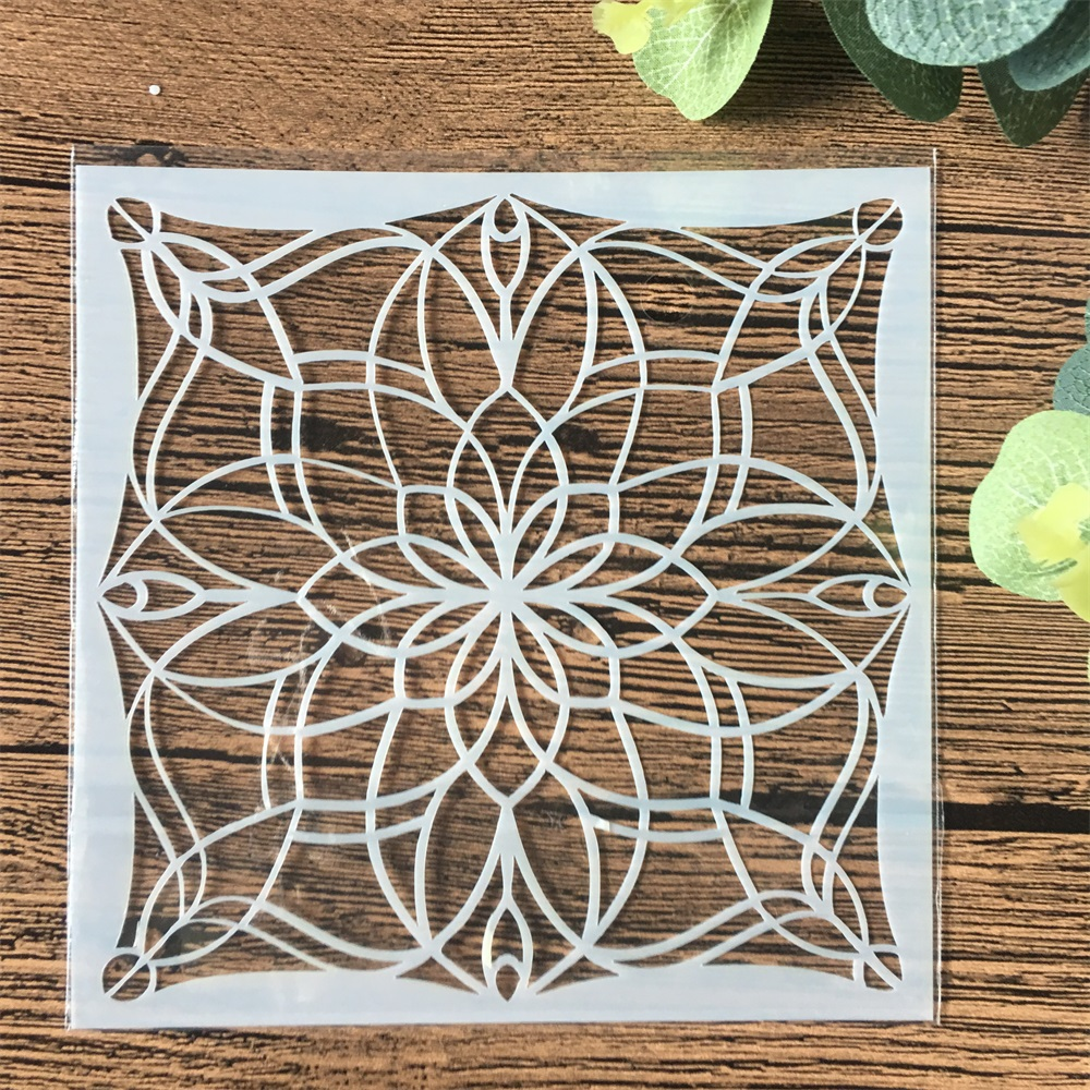 13cm Geometry Flower DIY Craft Layering Stencils Wall Painting Scrapbooking Stamping Embossing Album Card Template