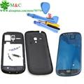 Черный Белый i8190 Полный Жилья для Samsung Galaxy S3 Mini i8190 Передняя Ближний FrameBattery Задняя Крышка С Инструментами Бесплатный Слежения