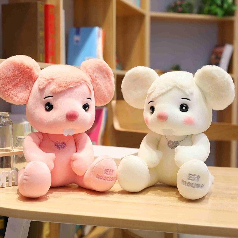 Lovely 1pc 25-40cm Plush Elf Mouse Toy Stuffed Animal Cartoon Rat Mice Baby Kids Children Birthday Gift Shop Home Decor Presents