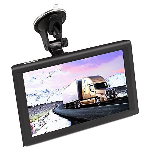 9 inch 2 in 1 Truck GPS DVR Tablet Navigation System load newest map title=