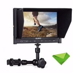 Lilliput 7 339 IPS 1280x800 Slim HDMI Input AV In&out Camera Monitor Comes With 2600mah Battery+7 Inch Magic Arm+Cleaning Cloth