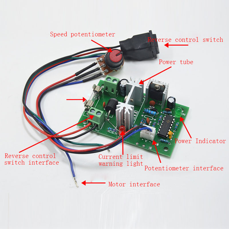 DC speed control board 12V 24V motor speed controller PWM control module CW CCW stepless speed controller in Motor Controller from Home Improvement