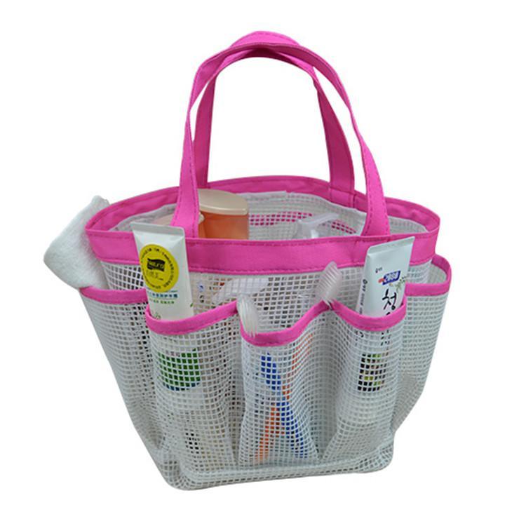 Swimming bags Outdoor Hand Basket bathing swim bag camping snorkeling rafting storage dry bag with adjustable strap mesh bag