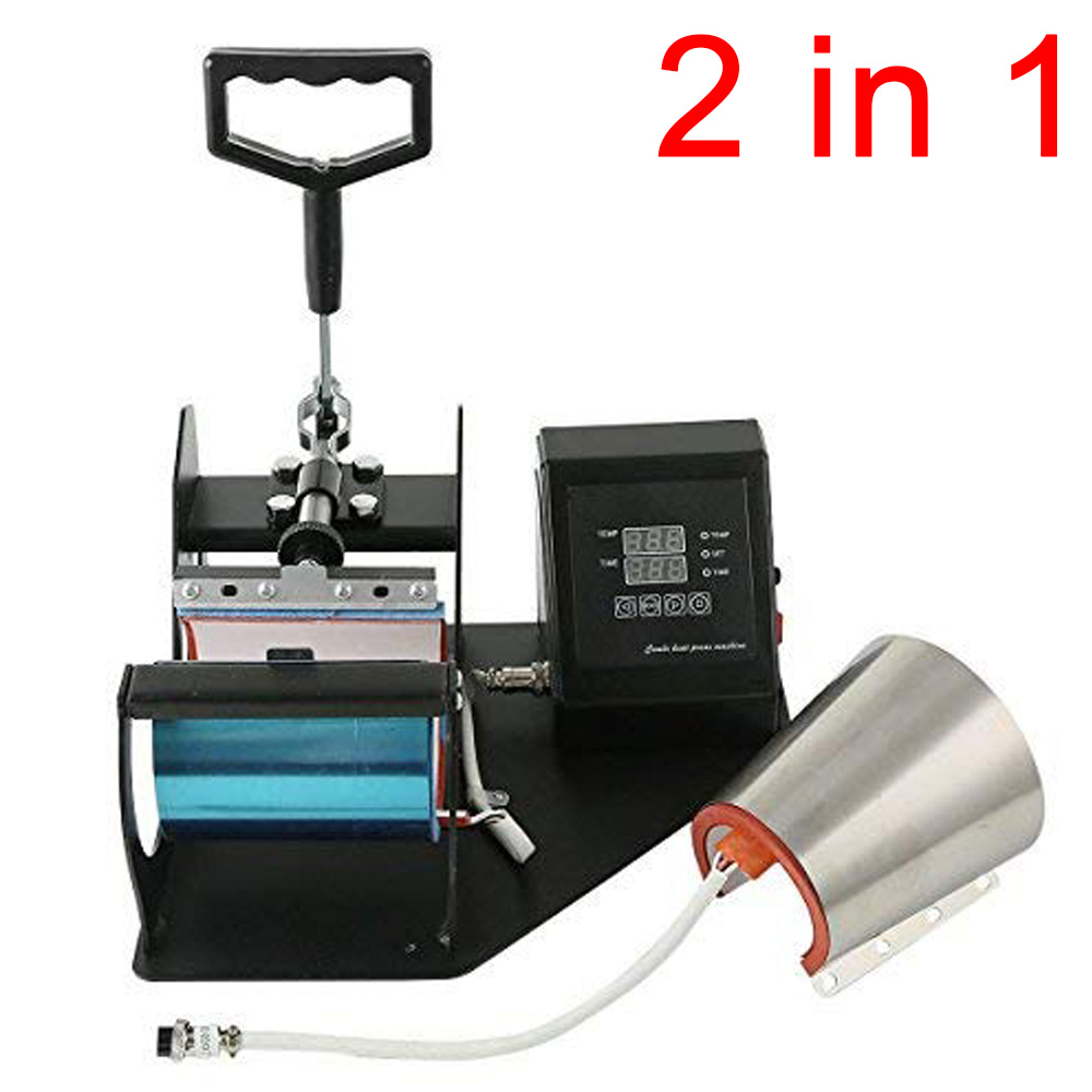 Double Display 2 In 1 Mug Press Machine Sublimation Printer Heat Transfer Mug Printing Machine For Mug Cup 11/12OZ