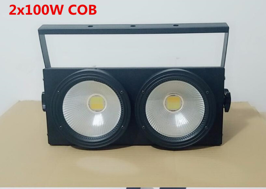 NEW 2eyes 2x100w LED Warm White 200W Led Audience Blinder DMX LED COB 200W LED PAR купить недорого в Москве