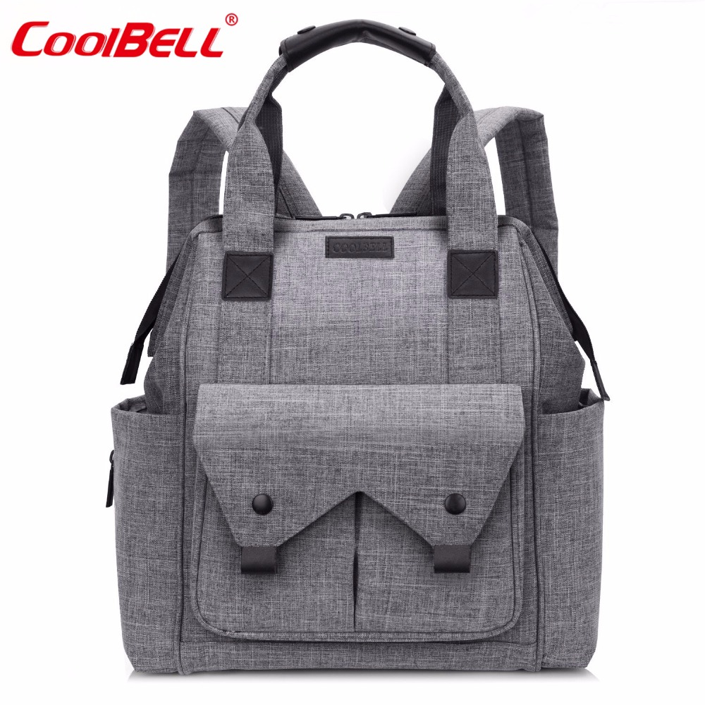 CoolBell Nylon Baby Diaper Nappy Bag Large Capacity Stroller Bag Waterproof Multifunctional Mummy Bag For Baby Care цена