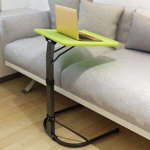 Image 2 - U 모양 플라스틱 pc 테이블 컴퓨터 책상 학습 소파 노트북 침대 테이블은 20kg 조정 가능한 연구 밀도 보드 데스크를 곰 수 있습니다
