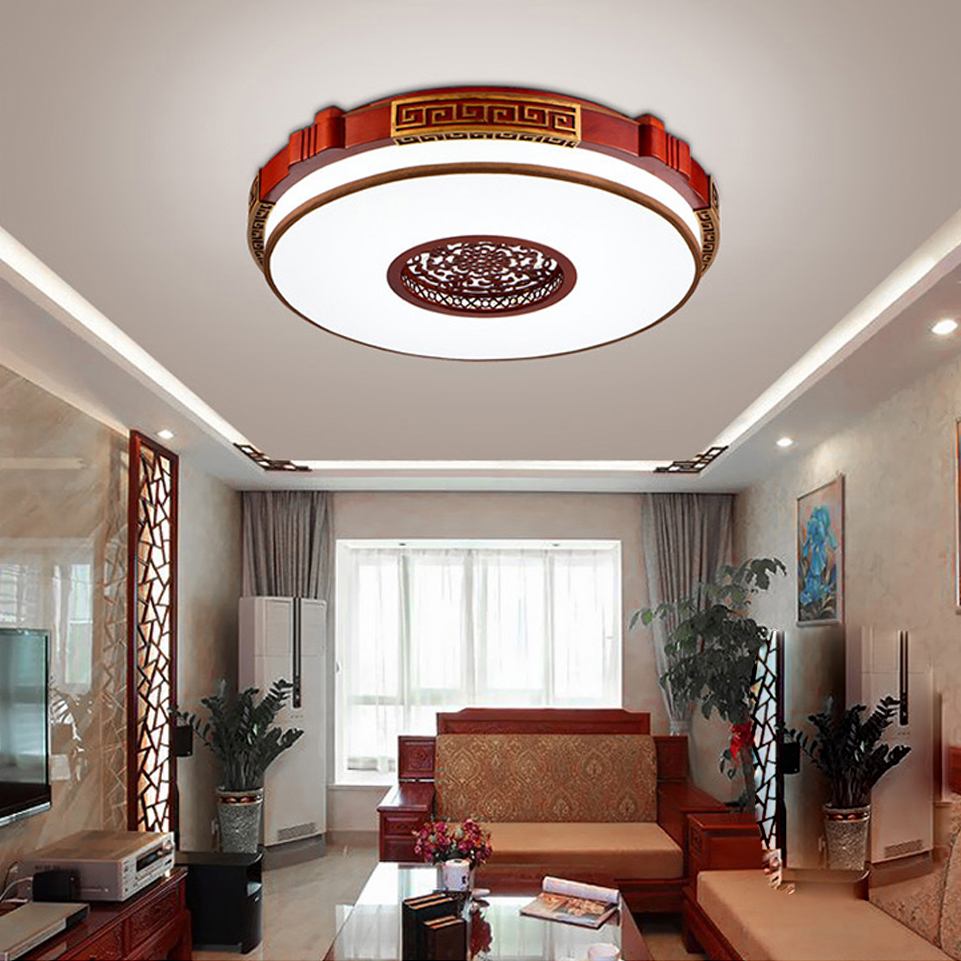 Led chinois en bois de fer acrylique lampe led led lumi re plafonniers led plafond lumi re - Lumiere salle a manger ...