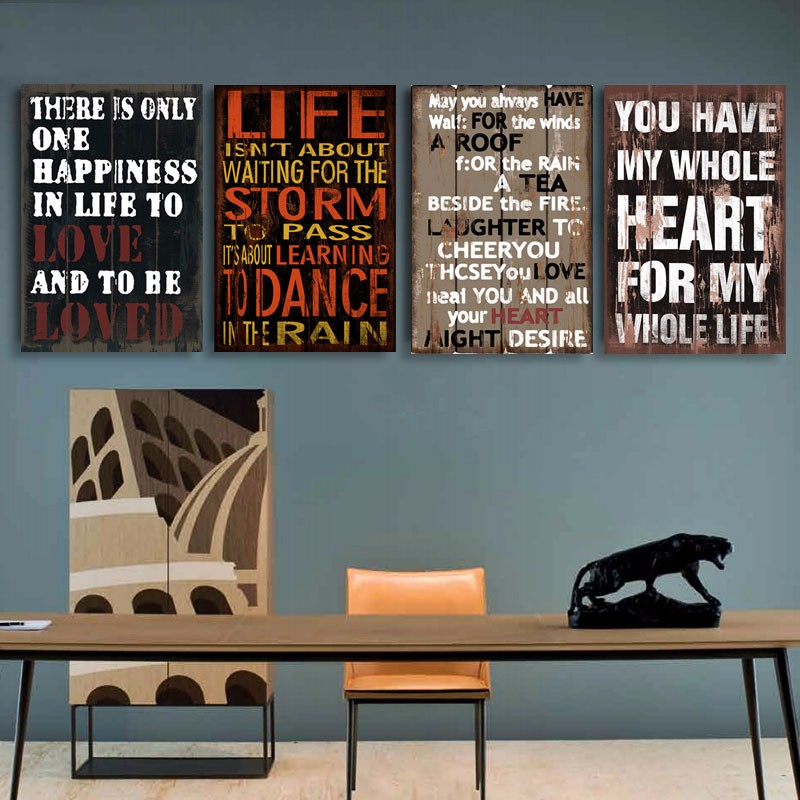 NEW Vintage Poster And Nostalgic Inspired Saying Canvas