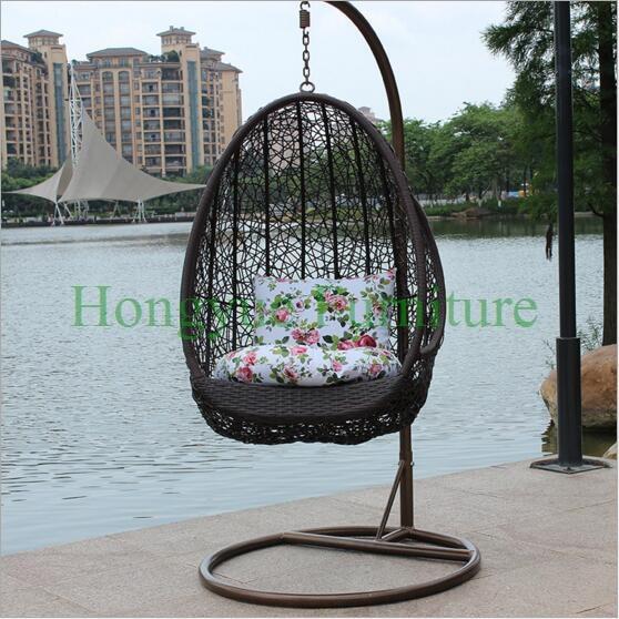 Garden Chair Set Part - 27: Rattan Hanging Garden Chair Set Furniture With Cushions(China (Mainland))