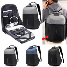 Men Business Travel Satchel Laptop Rucksack Computer Bag Knapsack Pouch Anti Theft  Teenage male mochila